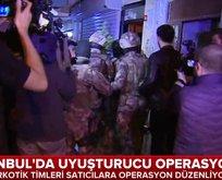 İstanbulda dev uyuşturucu operasyonu!