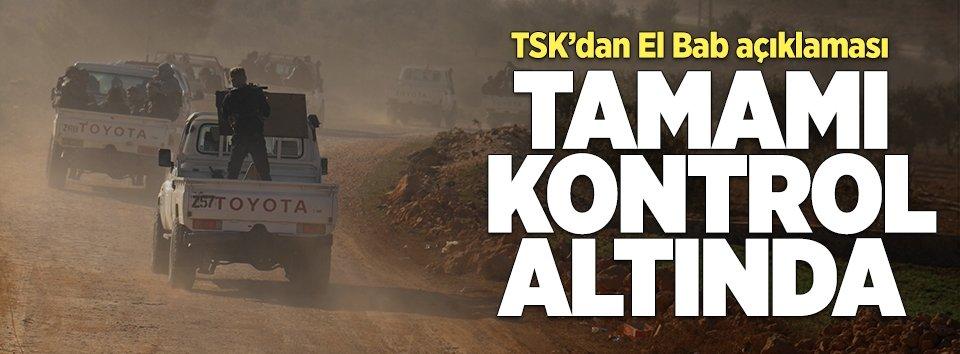 TSK: El Bab kontrol altında