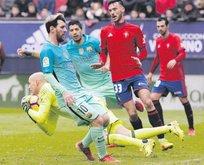 Barça ilk yarı zorlandı 2. yarıda coştu