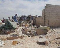 Suriyede sığınmacı kampına hava saldırısı!