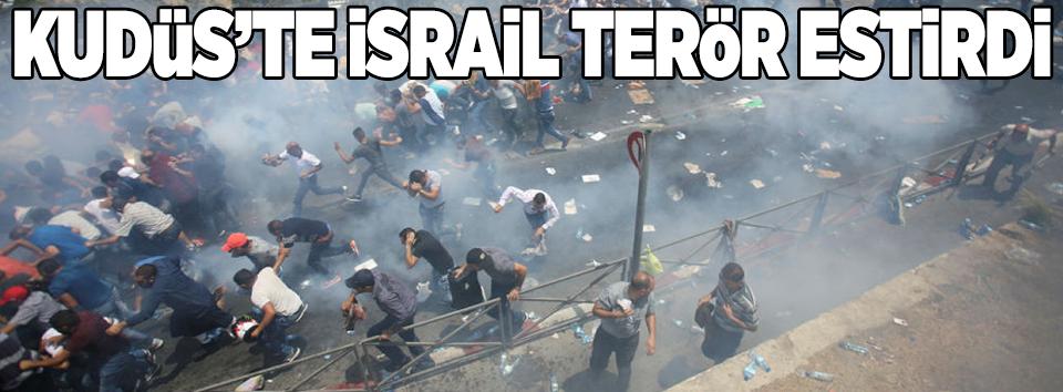 İsrail polisi cumadan çıkanlara saldırdı!  .