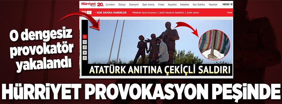 Diyarbakırda Atatürk Anıtına saldıran şahıs yakalandı