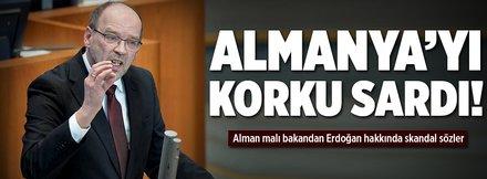 Alman bakanın Erdoğan hazımsızlığı