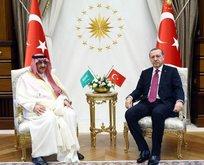 Erdoğan Suudi Arabistan Veliaht Prensini kabul etti