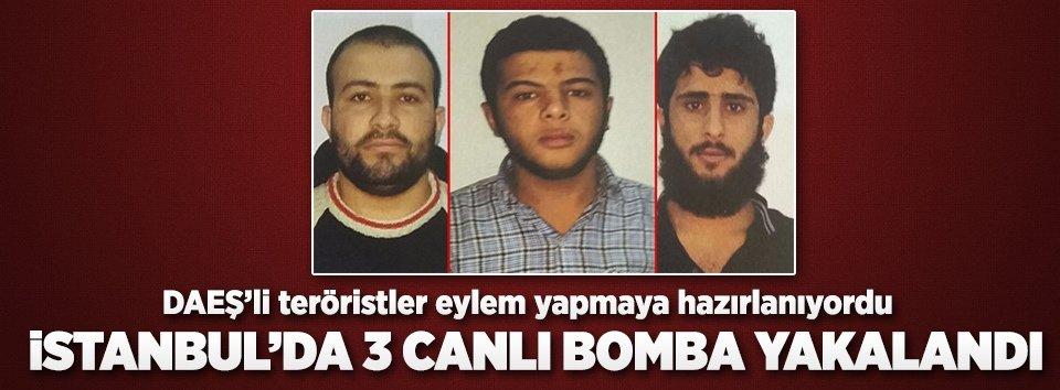 İstanbulda DEAŞlı 3 canlı bomba yakalandı