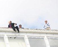 İşten çıkarıldılar çatıya çıktılar