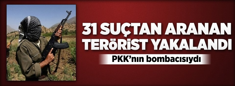 Diyarbakırda 31 suçtan aranan terörist yakalandı