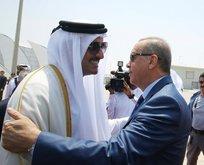 Cumhurbaşkanı Erdoğanı Katar Emiri karşıladı