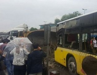 İstanbul'da yaşanan afetten manzaralar