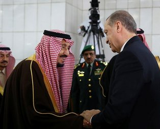 Erdoğan Suudi Arabistan'da böyle karşılandı