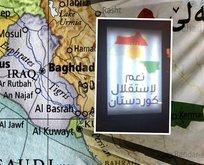 Erbil sokaklarında skandal harita: Türkiye'yi böldüler!