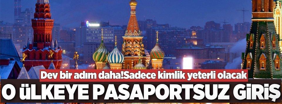 Rusyaya pasaportsuz giriş