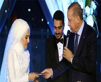 Cumhurbaşkanı Erdoğan o ismin nikahına katıldı