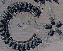 Silopideki tank taburundan ayyıldızlı gösteri