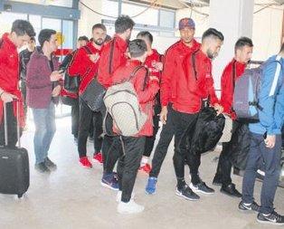 Trabzonspor'a çiçekli karşılama