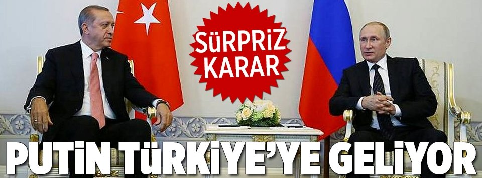 Putinden sürpriz karar!