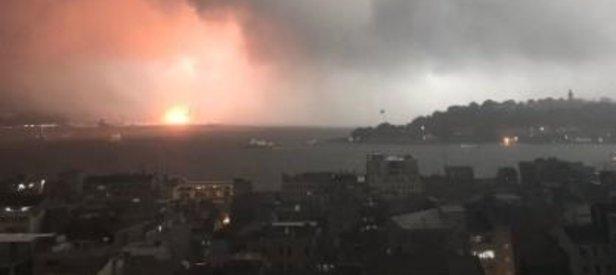 Haydarpaşa Limanında korkutan yangın