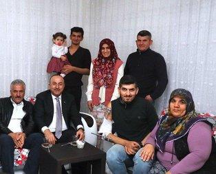 Bakan Çavuşoğlundan El Bab gazisine ziyaret