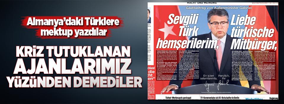 Almanya Dışişleri Bakanı, Türklere mektup yaptı