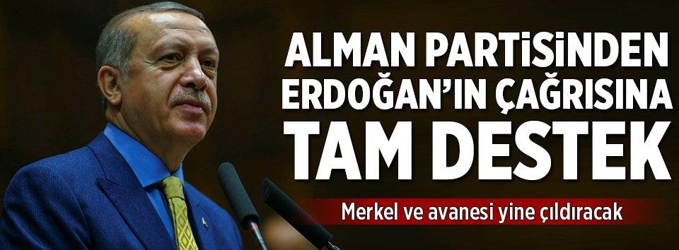 Adalet Birliği Partisinden Erdoğana tam destek