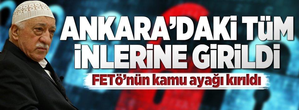 Ankarada dev FETÖ temizliği! Tüm inlerine giriliyor
