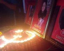 HDP binasında terörist için anma töreni
