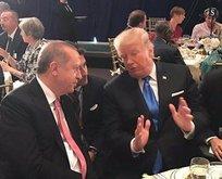 Cumhurbaşkanı Erdoğan ile Trump arasında samimi sohbet
