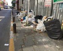 Şişlinin sokakları çöp içinde kaldı