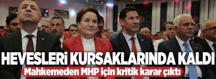 Mahkemeden MHP için kritik karar