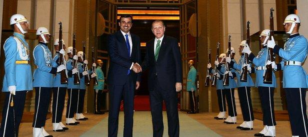 Cumhurbaşkanı Erdoğan, Katar Emiri ile bir araya geldi!