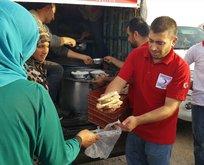 Türk Kızılayı'ndan Irak'ta 6 bin sığınmacıya iftar yemeği