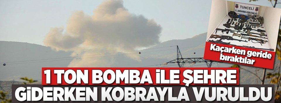 Bomba yüklü araç helikopterle vuruldu!