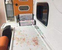Yaralı sürücü ambulansta kurşun yağdırdı