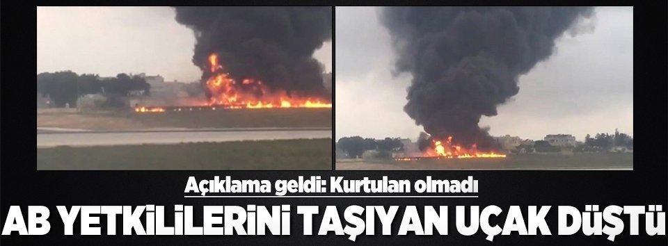 AB yetkililerini taşıyan uçak düştü: 5 ölü