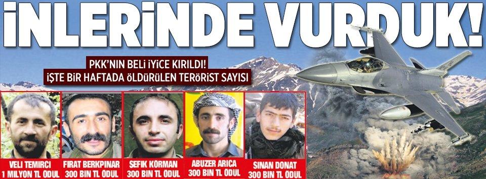 PKK'yı inlerinde vurduk