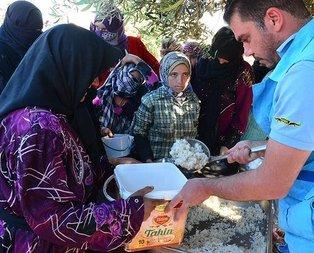 Türkiyeden Azeze ilk iftar için yardım