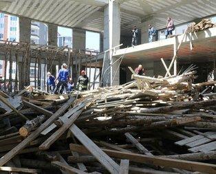 Samsunda cami inşaatı çöktü!