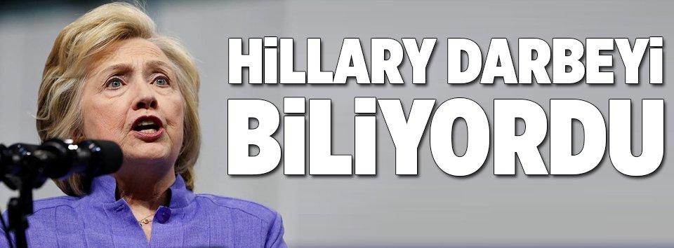 Hillary darbeyi biliyordu