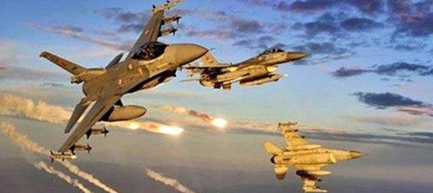 İHAlar tespit etti F16lar hainleri havaya uçurdu