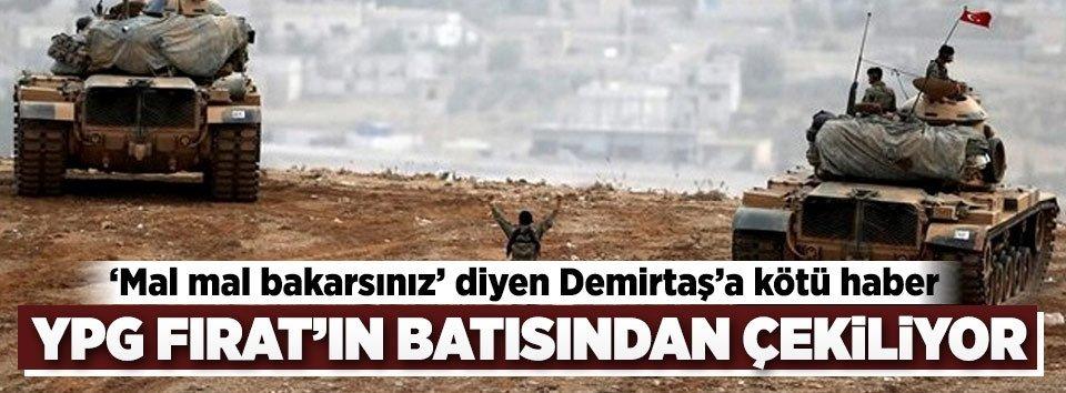 Terör örgütü YPG Fıratın batısından çekiliyor