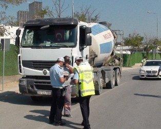 Polise beton mikseri operasyonu