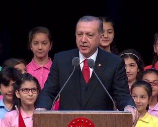 Erdoğandan çocuklara nasihat