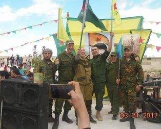 Ruslardan PKK'lılarla Nevruz kutlaması!