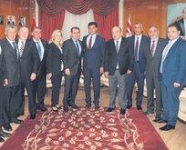 Başkan Özbek yavru vatana gitti