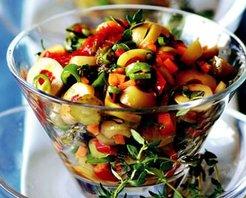 Kekikli Zeytin Salatası Tarifi