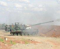 Türkiye Afrinde YPGyi bombaladı