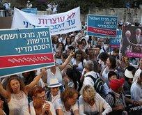 İsrailde Filistinlilerle barış gösterisi