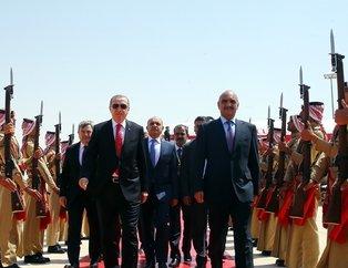 Cumhurbaşkanı Erdoğan Ürdün El Hüseyniye Sarayı'nda