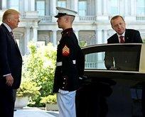 Trump, Erdoğan'ı kapıya kadar uğurladı