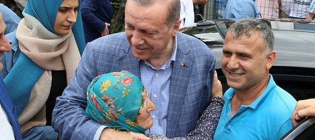 Artvinde Cumhurbaşkanı Erdoğana sevgi seli